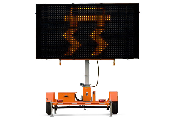 Keep your work zone safe with traffic safety products from Action. Full-size, full-matrix Wanco Variable Message Signs are the ideal choice when you need to get information to the public.