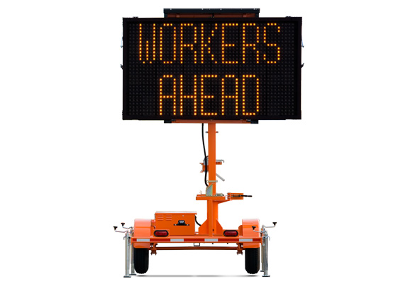 Keep your work zone safe with traffic safety products from Action. The Wanco Mini Matrix Message Sign is a compact version of our full-size variable message signs.