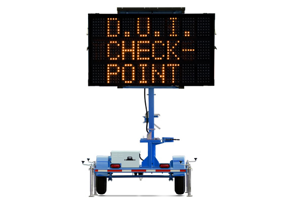 Keep your work zone safe with Arrow Boards from Action. Wanco Mini Three-Line Signs are great for checkpoints, crowd control, and special events.
