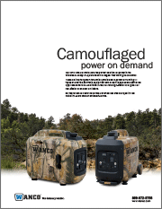 Wanco Camouflaged Generators Brochure