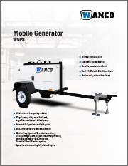 Wanco Mobile WSP8 Generators Brochure