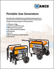 Wanco Portable Generators Brochure