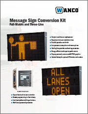 Wanco Full-Size Message Sign Conversion Kit Brochure
