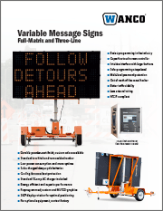 Wanco Full-Size Message Signs Brochure