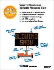 Wanco MTO Message Signs Brochure