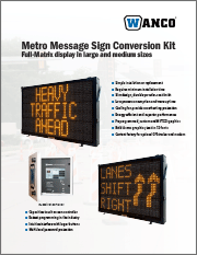Wanco Metro Message Sign Conversion Kit Brochure